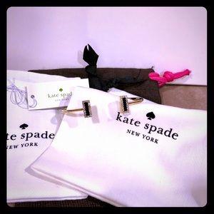 NWT Kate Spade Hinge Bracelet Black Gold